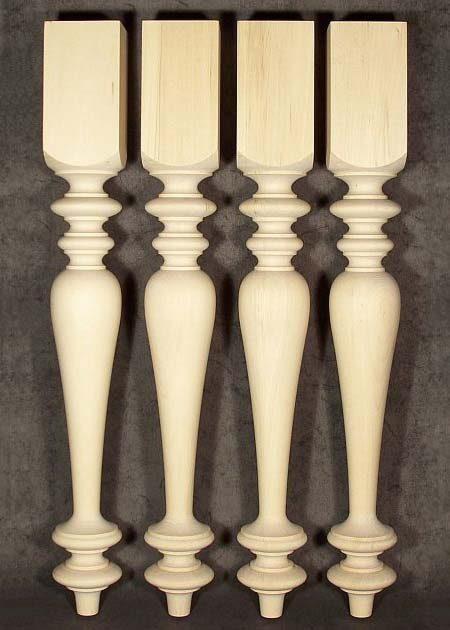 Tischbeine Holz mit ausergewoehnlich charackteristischen Motiven, TL39