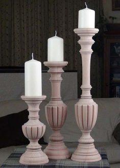 Kerzenstaender aus Holz KSA unb