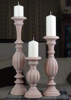 Kerzenstaender aus Holz KSC unb