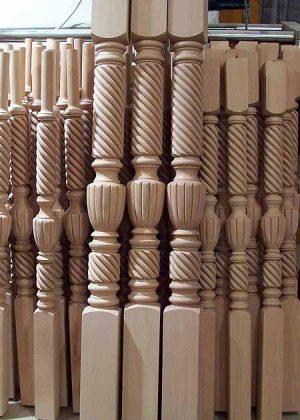 Gelaenderstaebe Holz SI55B