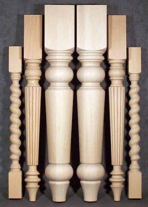 Tischbeine aus Holz, 033