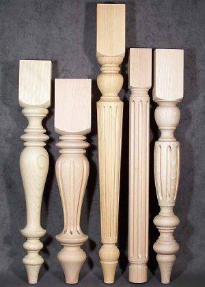 Tischbeine aus Holz, 043