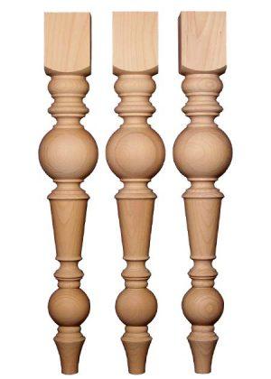 Tischbeine aus Holz, gedaempfte Buche, TL81-b