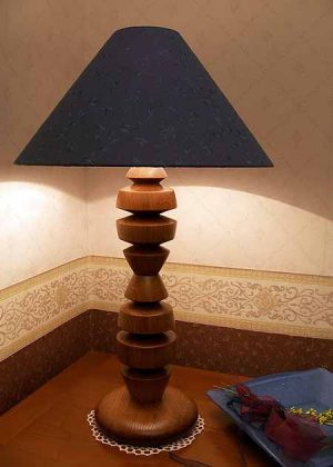 Tischleuchte Holz Ravenna B
