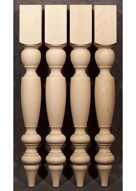 Tischbeine Holz aus technisch getrockneter Buche, TL66