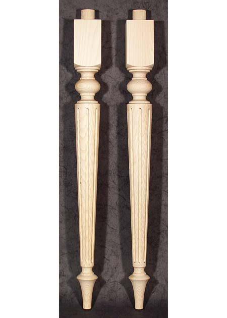 Tischbeine Holz, gedrechselt, konisch, TL65