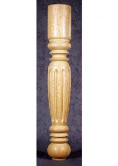 Tischbeine Holz mit breiten Ziernuten, TL09