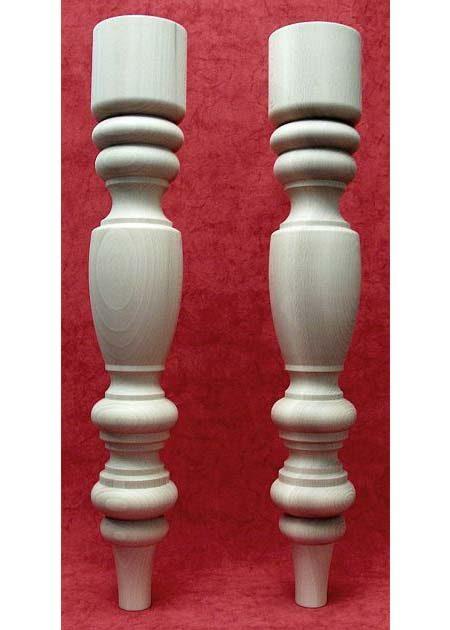 Tischbeine Holz mit charackteristischer Maserung, TL24