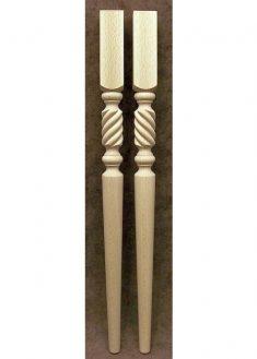 Tischbeine Holz mit kurzen Seilgeflecht-Motiven, TL26