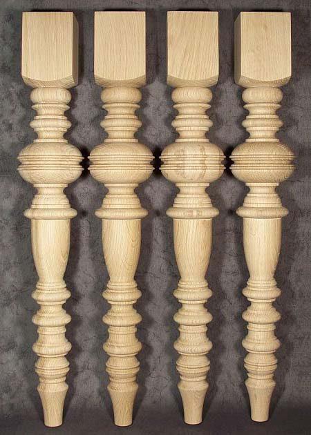 Tischbeine Holz mit reicher Dekoration, TL07