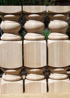 Tischbeine Holz robust, mit viereckigen Teilen, TL01