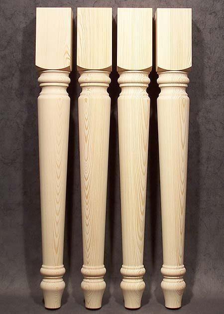 Tischbeine Holz, rustikal, mit einfacher Maserung, Kiefer, TL17