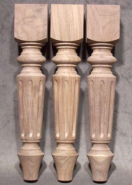 Tischbeine aus Holz, 5x5cm, amerikanischer Nussbaum, TL28