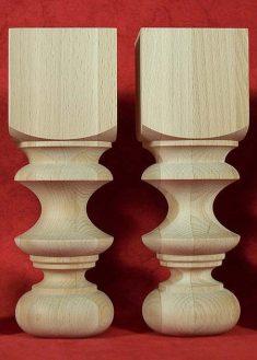 Tischbeine aus Holz, kleine Hoehe, TL34