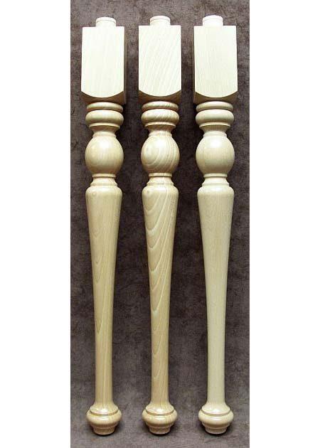 Tischbeine aus Holz mit dichter Ringverzierung, TL05